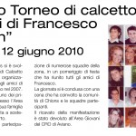 Quarto torneo di calcetto Francesco Tesolin
